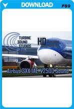 TSS Airbus 3XX IAE-V2500 HD FS2004 Sound Set