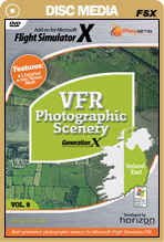 VFR Photographic Scenery Generation X - Volume 9 Ireland East for FSX Only