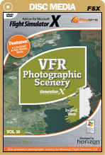 VFR Photographic Scenery Generation X - Volume 10 Ireland West for FSX Only