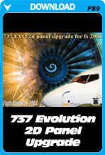 737 EVO 2D Panel Upgrade For FS2004