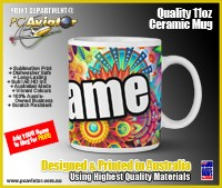 Abstract Colourful Hippie Design - 11oz Ceramic Coffee Mug (Free Shipping)