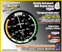 Airspeed Indicator Gauge Sticker