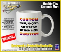 Custom 11oz Ceramic Mug with Your Design (Free Shipping)