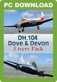 DH.104 Dove & Devon Livery Pack (FSX/FSX:SE/P3D)
