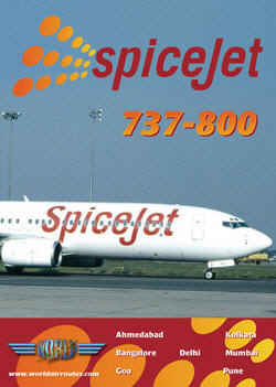 Just Planes DVD - SpiceJet 737-800