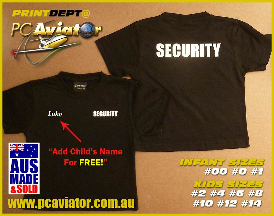 Custom Tough Kid SECURITY T-Shirt (Infant/Child's Sizes)