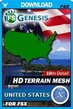 FSGenesis - United States Terrain Mesh FSX