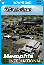 FSDreamTeam Memphis International Airport (FSX+P3D)