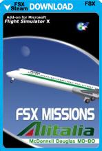FSX Missions - Alitalia MD80 (FSX/FSX:SE)