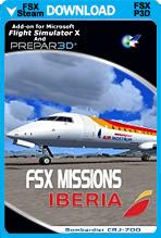 FSX Missions - Iberia CRJ-700 (FSX/FSX:SE/P3Dv2-v4)