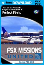 FSX Missions - United B737-800 (FSX/FSX:SE)