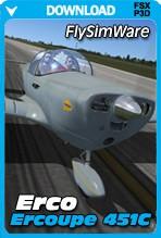 FlySimWare Erco Ercoupe 451C (FSX/FSX:SE/P3Dv1-v4)