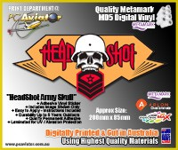 Headshot Army Gamer Sticker