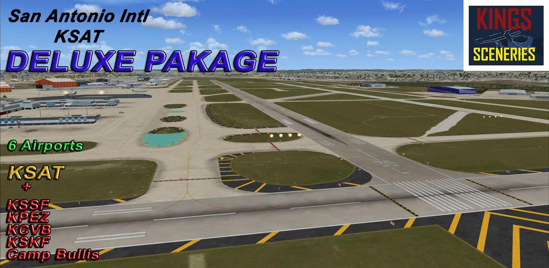 San Antonio International Airport (KSAT) Deluxe Package