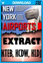 New York Airports X - KTEB KCDW KLDJ Extract