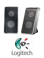 Logitech V20 Laptop/Notebook Speakers w/ Travel Case