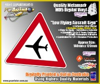 Low Flying Aircraft Warning Sign Sticker