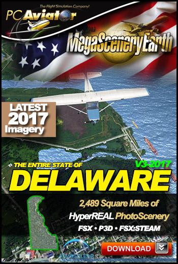 MegaSceneryEarth 3 - Delaware 2017 (FSX/FSX:SE/P3Dv1-v4)
