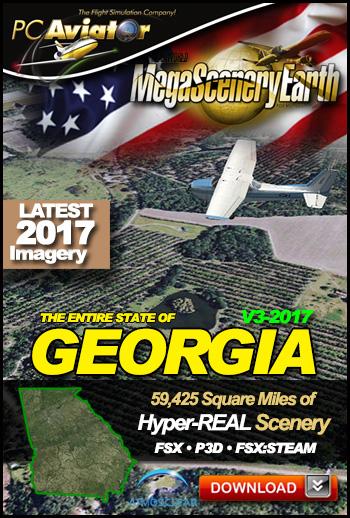 MegaSceneryEarth 3 - Georgia 2017 (FSX/FSX:SE/P3Dv1-v4)