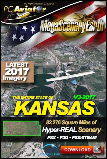 MegaSceneryEarth 3 - Kansas 2017 (FSX/FSX:SE/P3Dv1-v4)