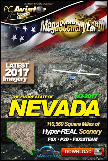 MegaSceneryEarth 3 - Nevada 2017 (FSX/FSX:SE/P3Dv1-v4)