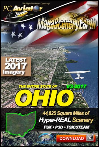 MegaSceneryEarth v3 Ohio 2017 (FSX/FSX:SE/P3Dv1-v4)