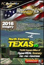 MegaSceneryEarth 3 - Texas North East (FSX/FSX:SE/P3Dv1-v4)
