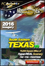 MegaSceneryEarth 3 - Texas South East (FSX/FSX:SE/P3Dv1-v4)