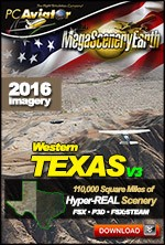 MegaSceneryEarth 3 - Texas West (FSX/FSX:SE/P3Dv1-v4)