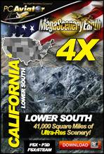 MegaSceneryEarth 4X - California (Lower South)