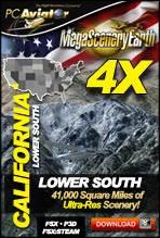 MegaSceneryEarth 4X - California (Lower South)