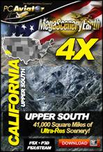 MegaSceneryEarth 4X - California (Upper South)