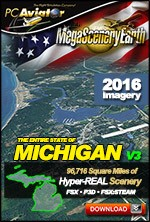 MegaSceneryEarth 3 - Michigan (FSX/FSX:SE/P3Dv1-v4)