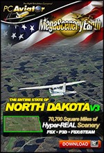 MegaSceneryEarth 3 - North Dakota (FSX/FSX:SE/P3Dv1-v4)