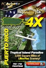 MegaSceneryEarth 4X - Puerto Rico (FSX/FSX:SE/P3D)