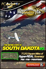 MegaSceneryEarth 3 - South Dakota (FSX/FSX:SE/P3Dv1-v4)