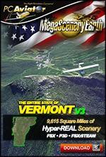 MegaSceneryEarth 3 - Vermont (FSX/FSX:SE/P3Dv1-v4)