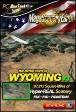 MegaSceneryEarth 3 - Wyoming (FSX/FSX:SE/P3Dv1-v4)