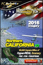 MegaSceneryEarth 3 - Northern California (FSX/FSX:SE/P3Dv1-v4)