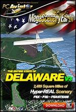 MegaSceneryEarth 3 - Delaware (FSX/FSX:SE/P3Dv1-v4)