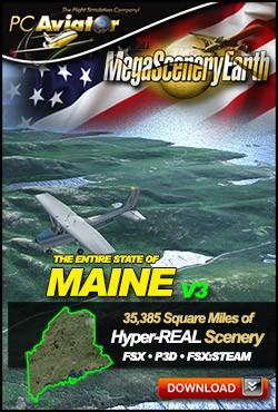 MegaSceneryEarth 3 - Maine (FSX/FSX:SE/P3Dv1-v4)