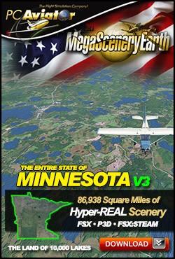 MegaSceneryEarth 3 - Minnesota (FSX/FSX:SE/P3Dv1-v4)