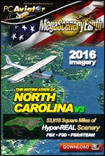 MegaSceneryEarth 3 - North Carolina (FSX/FSX:SE/P3Dv1-v4)