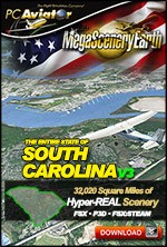 MegaSceneryEarth 3 - South Carolina (FSX/FSX:SE/P3Dv1-v4)