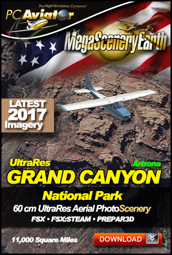 MegaSceneryEarth 3 - UltraRes Grand Canyon (FSX/FSX:SE/P3Dv1-v4)