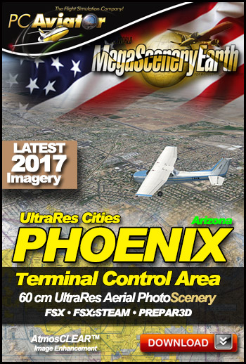 MegaSceneryEarth 3 - UltraRes Cities: Phoenix (FSX/FSX:SE/P3Dv1-v4)