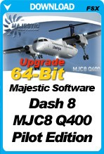 Majestic Software Dash 8 Q400 Pilot Edition 64-Bit UPGRADE (P3Dv4 Only)