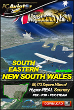 MegaSceneryEarth 3 - New South Wales South East (FSX/FSX:SE/P3Dv1-v4)