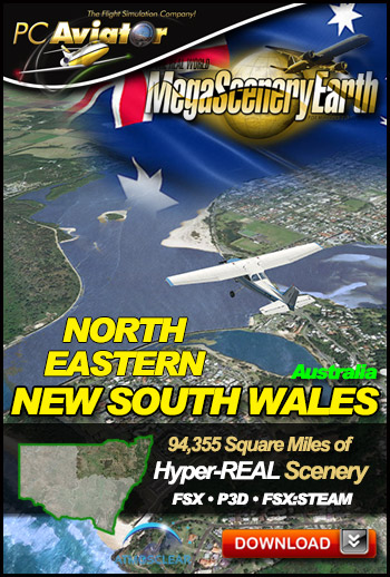 MegaSceneryEarth 3 - New South Wales North East (FSX/FSX:SE/P3Dv1-v4)