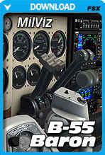 MilViz B-55 Baron (FSX/FSX Steam/P3D)